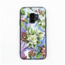 """Samsung S9 dėklas """"Flowers 10"""" TPU žalsvas"""