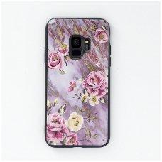 """Samsung S9 dėklas """"Flowers 12"""" TPU rausvas"""