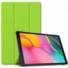 """Samsung Tab S6 Lite atverčiamas dėklas """"Smart Leather"""" eko oda žalias"""