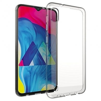 Akcija! Samsung galaxy a10 DĖKLAS HIGH CLEAR 1,0MM SILIKONAS SKAIDRUS