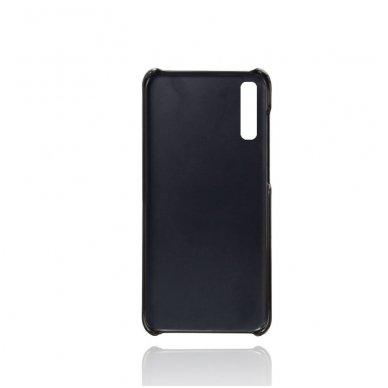 Samsung galaxy A70 dėklas Leather Card Case PU oda juodas 3