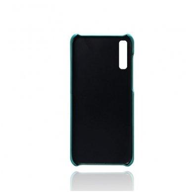Samsung galaxy A70 dėklas Leather Card Case PU oda tamsiai mėlynas  2