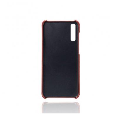Samsung galaxy A70 dėklas Leather Card Case PU oda raudonas  2