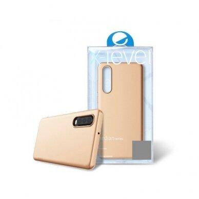 akcija!Samsung galaxy a50 dėklas X-LEVEL GUARDIAN silikonas auksinis 3