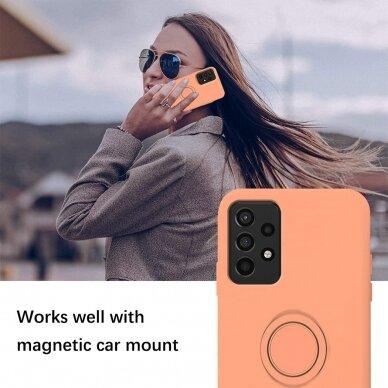 Samsung Galaxy a72 dėklas su magnetu Pastel Ring Oranžinis  3