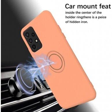 Samsung Galaxy a72 dėklas su magnetu Pastel Ring Oranžinis  5