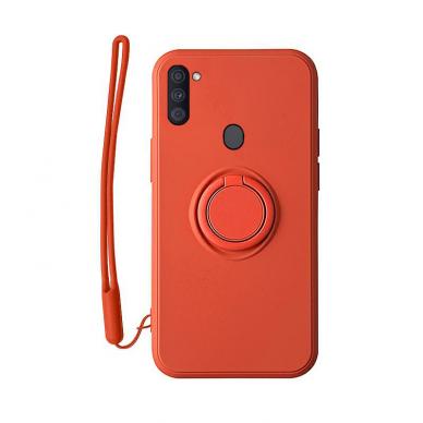 Samsung Galaxy a11 / m11 dėklas su magnetu Pastel Ring Raudonas
