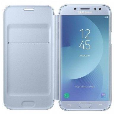 """Samsung Galaxy J5 2017 originalus išmanus atverčiamas dėklas """"Wallet Cover"""" melsvas 2"""