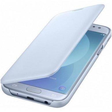 """Samsung Galaxy J5 2017 originalus išmanus atverčiamas dėklas """"Wallet Cover"""" melsvas 4"""