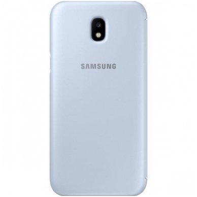 """Samsung Galaxy J5 2017 originalus išmanus atverčiamas dėklas """"Wallet Cover"""" melsvas 3"""