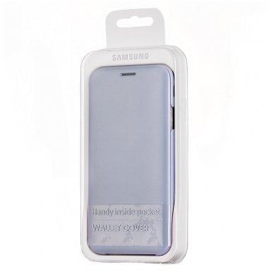 """Samsung Galaxy J5 2017 originalus išmanus atverčiamas dėklas """"Wallet Cover"""" melsvas 5"""