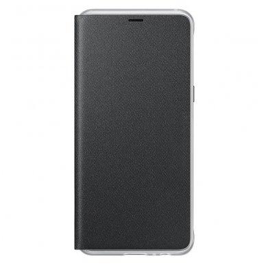 """Samsung Galaxy A8 2018 originalus išmanus atverčiamas dėklas """"Neon Flip Cover"""" juodas 5"""
