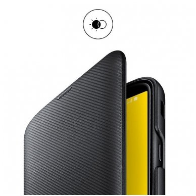 """Samsung Galaxy J6 2018 originalus išmanus atverčiamas dėklas """"Wallet Cover"""" juodas 4"""