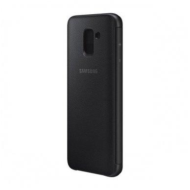 """Samsung Galaxy A6 Plus originalus išmanus atverčiamas dėklas """"Wallet Cover"""" juodas 8"""