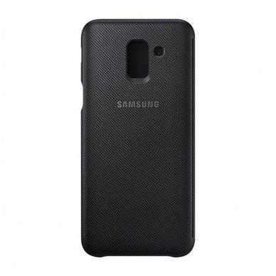 """Samsung Galaxy J6 2018 originalus išmanus atverčiamas dėklas """"Wallet Cover"""" juodas 3"""