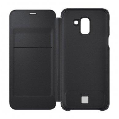 """Samsung Galaxy A6 Plus originalus išmanus atverčiamas dėklas """"Wallet Cover"""" juodas 2"""