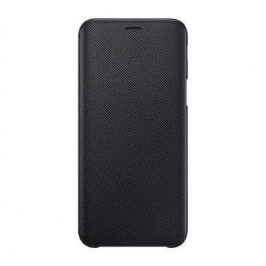 """Samsung Galaxy A6 Plus originalus išmanus atverčiamas dėklas """"Wallet Cover"""" juodas"""