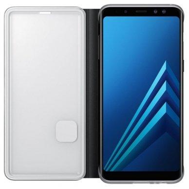 """Samsung Galaxy A8 2018 originalus išmanus atverčiamas dėklas """"Neon Flip Cover"""" juodas 2"""