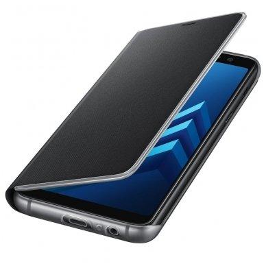 """Samsung Galaxy A8 2018 originalus išmanus atverčiamas dėklas """"Neon Flip Cover"""" juodas 3"""