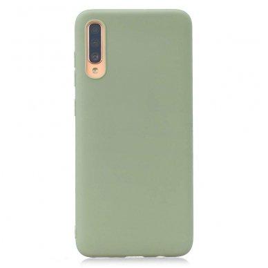 Samsung galaxy A70 dėklas Liquid Silicone žalias
