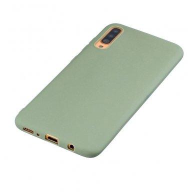 Samsung galaxy A70 dėklas Liquid Silicone žalias 3