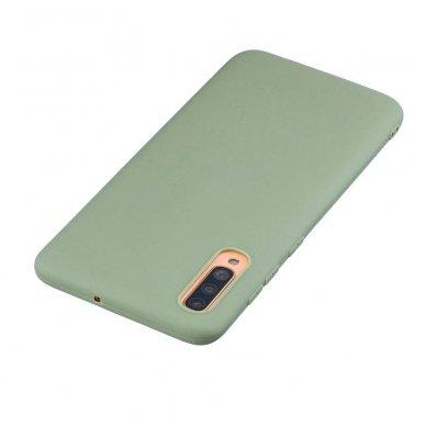 Samsung galaxy A70 dėklas Liquid Silicone žalias 2
