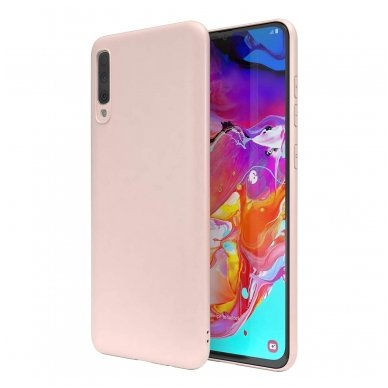 Samsung galaxy A70 dėklas Liquid Silicone rožinis
