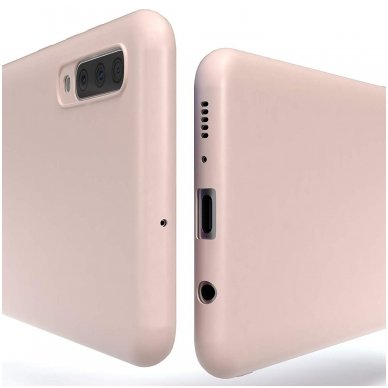 Samsung galaxy A70 dėklas Liquid Silicone rožinis 2