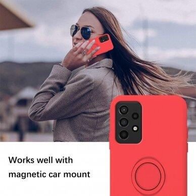 Samsung Galaxy a52 / a52 5g dėklas su magnetu Pastel Ring Raudonas  3