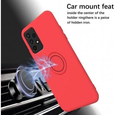 Samsung Galaxy a52 / a52 5g dėklas su magnetu Pastel Ring Raudonas  5