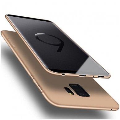 Samsung galaxy A8 2018 dėklas X-LEVEL GUARDIAN silikonas auksinis
