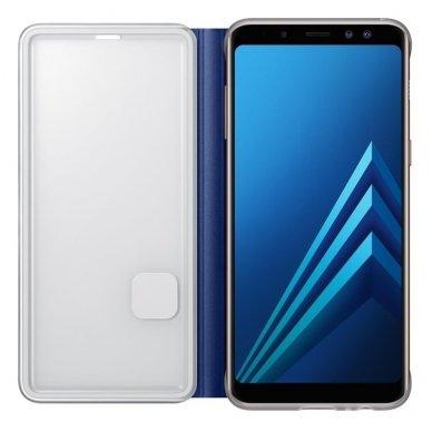 """Samsung Galaxy A8 2018 originalus išmanus atverčiamas dėklas """"Neon Flip Cover"""" mėlynas 4"""