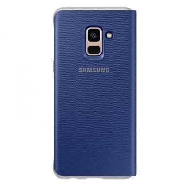 """Samsung Galaxy A8 2018 originalus išmanus atverčiamas dėklas """"Neon Flip Cover"""" mėlynas 2"""