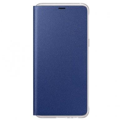 """Samsung Galaxy A8 2018 originalus išmanus atverčiamas dėklas """"Neon Flip Cover"""" mėlynas"""