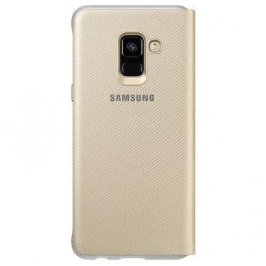 """Samsung Galaxy A8 2018 originalus išmanus atverčiamas dėklas """"Neon Flip Cover"""" auksinis 2"""