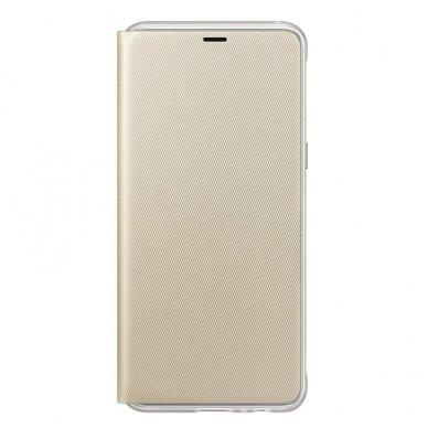 """Samsung Galaxy A8 2018 originalus išmanus atverčiamas dėklas """"Neon Flip Cover"""" auksinis"""