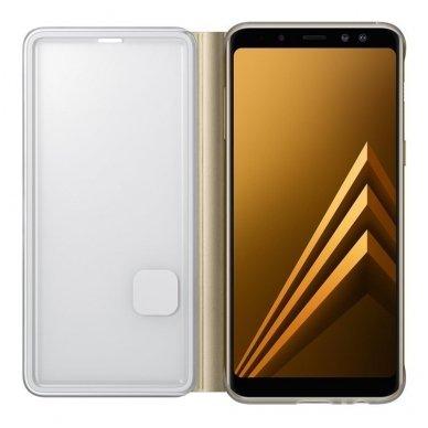 """Samsung Galaxy A8 2018 originalus išmanus atverčiamas dėklas """"Neon Flip Cover"""" auksinis 3"""