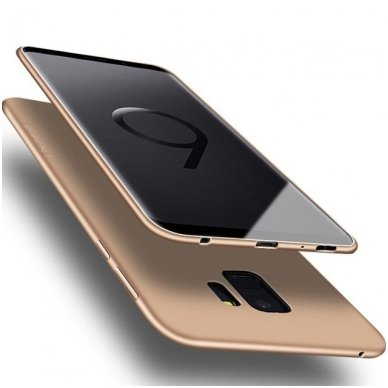 Samsung galaxy A8 plus 2018 dėklas x-LEVEL GUARDIAN silikonas auksinis