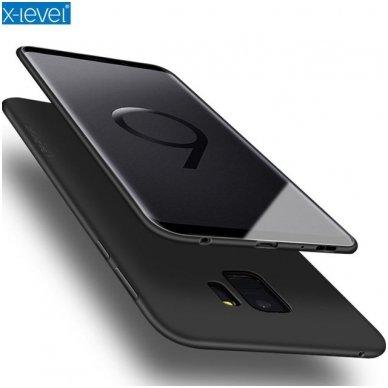 Samsung galaxy A8 plus 2018 dėklas X-LEVEL GUARDIAN silikonas juodas