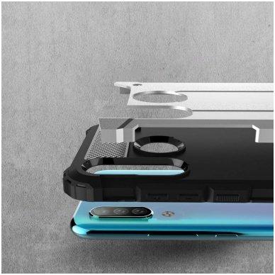 Huawei P smart 2019 dėklas Hybrid Armor  TPU+PC plastikas sidabrinis 3