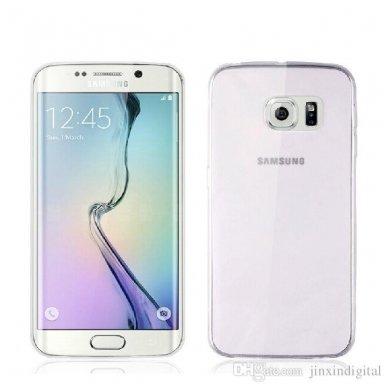 Samsung galaxy S6 EDGE PLUS dėklas Silikoniniai Ultra Slim 0,3mm SKAIDRUS 3