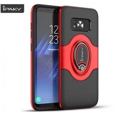 Samsung galaxy s8 plus dėklas Ipaky feather TPU + PC PLASTIKAS raudonas