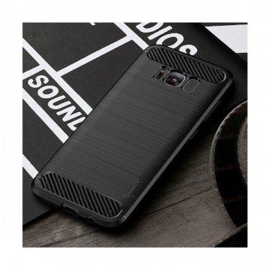 Samsung galaxy S8 plus  dėklas iPaky Slim Carbon TPU juodas 3