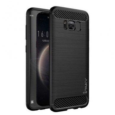 Samsung galaxy S8 plus  dėklas iPaky Slim Carbon TPU juodas