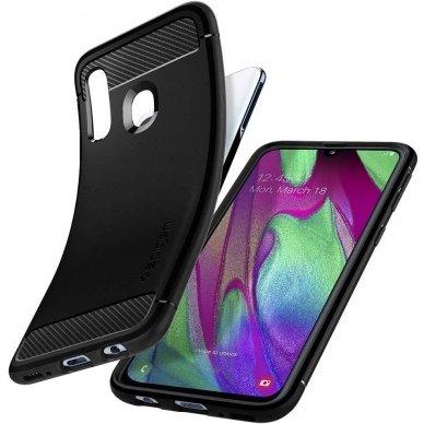 """Samsung galaxy a40 Spigen """"RUGGED ARMOR"""" aukštos kokybės tpu juodas  4"""