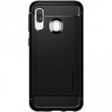 """Samsung galaxy a40 Spigen """"RUGGED ARMOR"""" aukštos kokybės tpu juodas  2"""