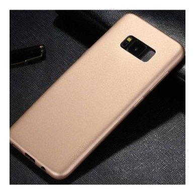 Samsung galaxy A8 plus 2018 dėklas x-LEVEL GUARDIAN silikonas auksinis 2