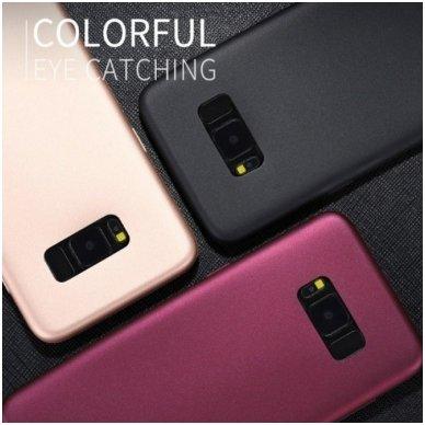 Samsung galaxy A8 plus 2018 dėklas x-LEVEL GUARDIAN silikonas auksinis 4