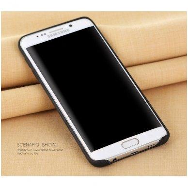 Samsung galaxy S6 EDGE PLUS dėklas X-LEVEL VINTAGE eko oda juodas 2