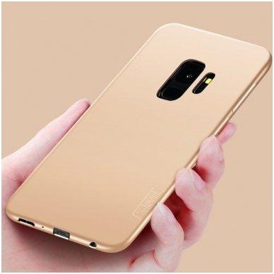Samsung galaxy s9 plus dėklas X-LEVEL GUARDIAN silikonas auksinis 3